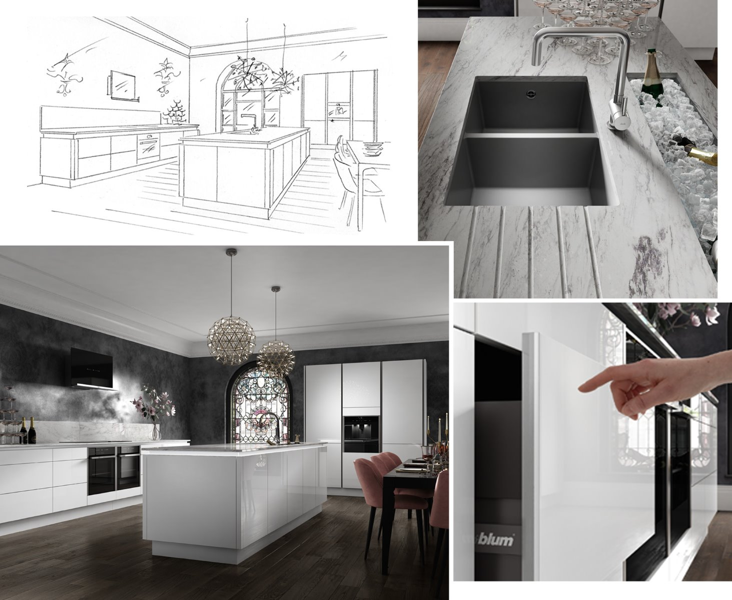 CGI White Handleless kitchen